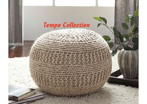 NEW, Benedict Natural Pouf, SKU# A1000558 for Sale in Westminster, CA