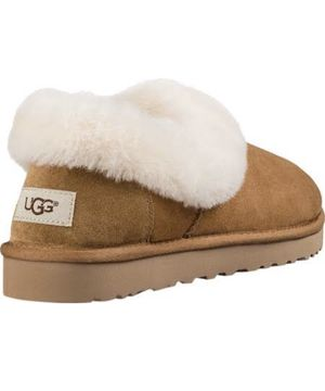 Ugg Nita Chestnut Brown Suede Fur Slippers Womens Size 7 for Sale in Chicago, IL