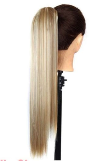 """New 24"""" Clip, used for sale  Blonde Ponytail Hair Wig extention - - NEW IN PACKAGE for Sale"""
