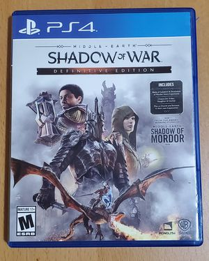 PS4 Game Shadow of War Definitive Edition for Sale in Los Angeles, CA