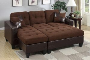 Brand New Chocolate Microfiber Sectional Sofa Couch + Ottoman for Sale in Fairfax, VA