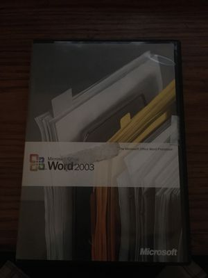 Microsoft office word 2003 for Sale in Santa Maria, CA