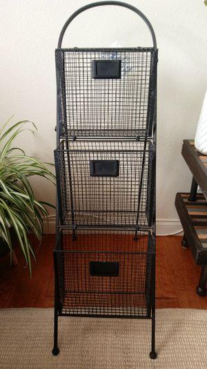 Black Metal Wire Organizer (3-tier) for Sale in San Diego, CA