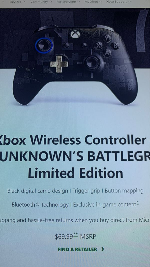 Xbox Wireless Controller Limited Edition (No Back cover)