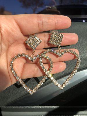 Heart earrings for Sale in Whittier, CA