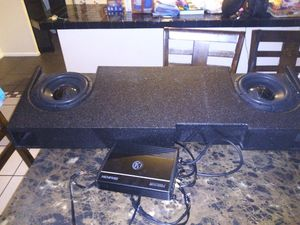 Memphis audio truck box speakers and amp for Sale in Port St. Lucie, FL
