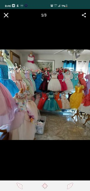 EVENT DRESSES/ FLOWER GIRL DRESSES/ BIRTHDAY DRESSES/ PLEASE MESSAGE ME FOR ANY INFORMATION for Sale in Ontario, CA
