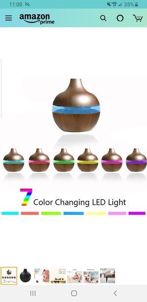 Brand New! 300 ml Wood Grain USB Air Humidifier Night Light Aroma Essential Oil Diffuser Purifier for Sale in Corona, CA