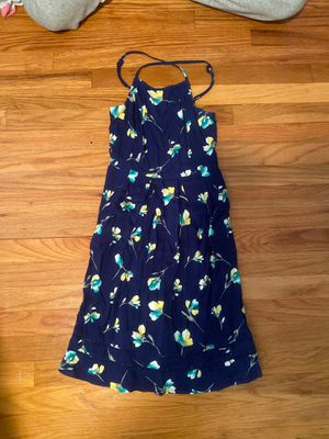 XS Navy Blue Flowered Dress for Sale in Parma, OH