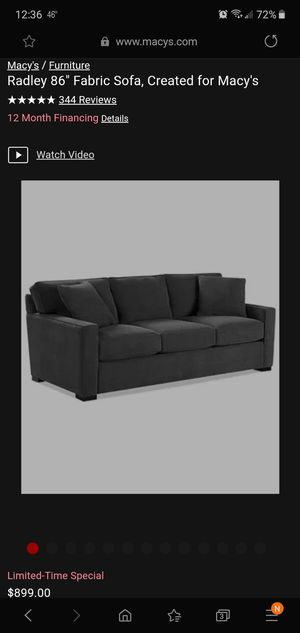 1yr old Macys gray sofa for Sale in Atlanta, GA