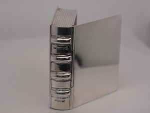 Tiffany & Co. Vintage Sterling Silver Book Pill Container for Sale in Carrollton, TX