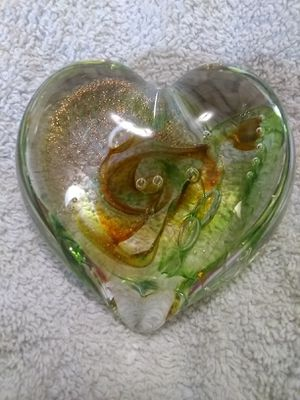 Glass Heart Paperweight for Sale in Vancouver, WA