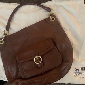 Brown Leather Coach hobo Bag for Sale in Parker, CO