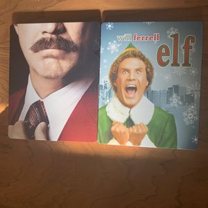 Elf and Ancherman 1&2 are both inside the steelbook for Sale in Los Angeles, CA