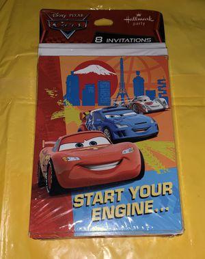 Disney cars birthday invitations for Sale in Glendale, AZ