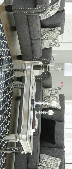 Agleno Charcoal Living Room Set. Sofa&Loveseat $799 Sofa&Loveseat&Chair $1,089 Sofa&Loveseat&Chair&Ottoman $1,279 for Sale in Houston, TX