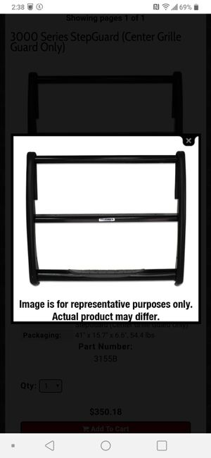 Grille Guard for Chevrolet Express or GMC Savana Van for Sale in Mercer Island, WA