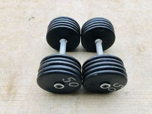 50lbs Dumbbells - Weights - Gym Equipment - Fitness - Work Out - Training for Sale in Downers Grove, IL
