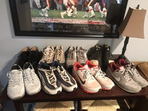Lot of 6 nikes, 1 pair saucony, 1 pair tuxedo shoes for $150 for Sale in Rockville, MD