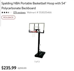 Basketball hoop Spalding NBA portable for Sale in Gainesville, FL
