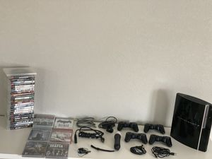 PlayStation 3 with games controllers and more for Sale in Orlando, FL