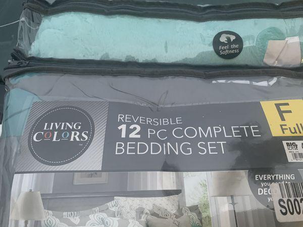 New 12 Piece Bedding Set Full size