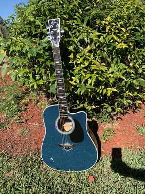 Acoustic guitar Blue for Sale in Hialeah, FL
