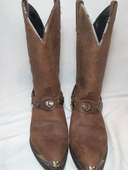 Masterson RB920 Western Leather Cowboy Boots Pointed Toe w/ Chains, Women's 8.5M for Sale in College Park,  GA