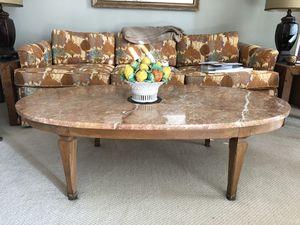 Large oval Italian marble slab/coffee table for Sale in Alexandria, VA