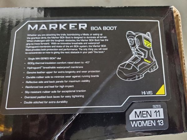 New Fly Racing HI-VIS Marker BOA boots men 11 women 13