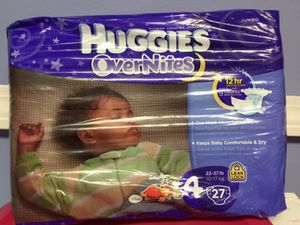 Huggies Overnight size 4 for Sale in Bloomfield, CT