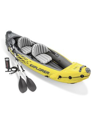 Intex Explorer K2 Kayak, 2-Person Inflatable Kayak Set with Aluminum Oars and High Output for Sale in Newport Beach, CA