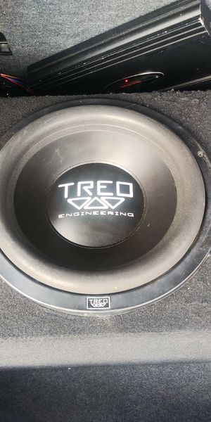 """12"""" SUBWOOFER TREO TSX 400RMS WORKS GOOD 👉$50 FIRM NO BOX👈 for Sale in Los Angeles, CA"""