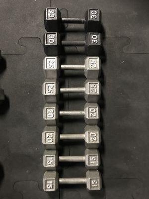 Hex Dumbbells (2x15s 2x20s 2x25s 2x30s) for $130 Firm!!! for Sale in Burbank, CA