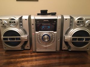 Panasonic SA-AK330 5 CD TESTED Stereo System Dual Cassette AM FM for Sale in Duluth, GA