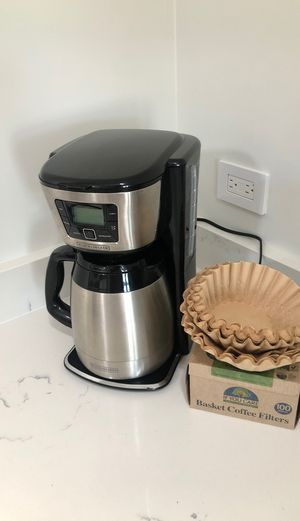 Coffee maker with filters for Sale in Chicago, IL