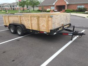 7k lb Car hauler trailer tandem axle wood deck $2600 for Sale in Indianapolis, IN