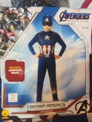 Avengers Endgame Captain America Child Costume. Kid's Size Small (4-6) for Sale in Phoenix, AZ