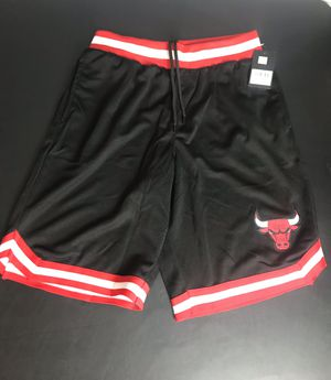 Chicago Bulls NBA Basketball Shorts Black Red Stitched Size Medium NEW with tags for Sale in French Creek, WV