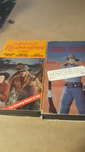 Lot of 4 westerns VHS form for Sale in Riverside, IL