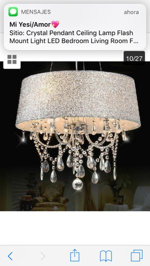 Clear Crystal Chandelier Pendant Ceiling Hanging Fixture 3/5 Lights&Fabric Shade price firm $100 for Sale in Hayward, CA