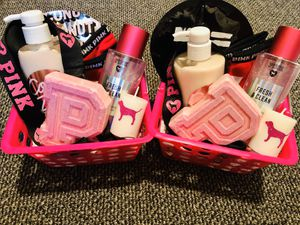 Victoria's Secret Pink Christmas gift baskets for Sale in Burleson, TX