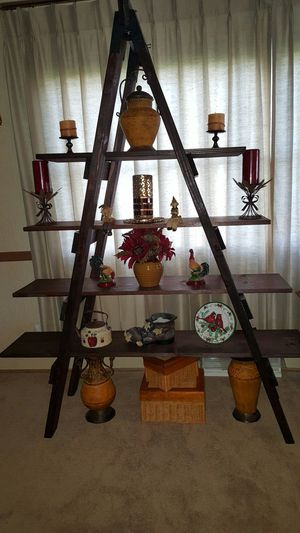 Beautiful hand made ladder shelf for Sale in Manitowoc, WI