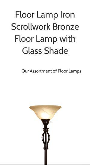 Floor Lamp Iron Scoll Design for Sale in Blackwood, NJ
