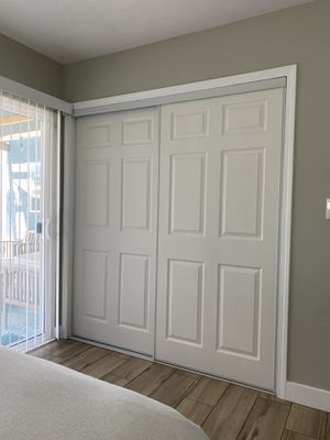 Sliding closet doors and frame for Sale in San Diego, CA