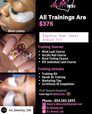 💗Mink Lash Training, Brow Training, Acrylic Nail Training💗 for Sale in Richmond, VA