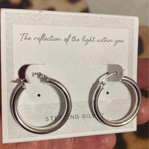 Hoop Sterling Silver Earrings for Sale in Visalia, CA