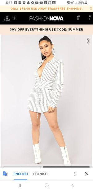 Well Suited Striped Shirt Dress for Sale in Calexico, CA