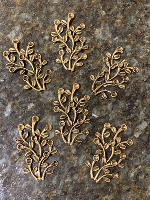 9 pcs branch leave charms lot DIY art crafts jewelry making supply favor shower decoration. for Sale in Lutherville-Timonium, MD