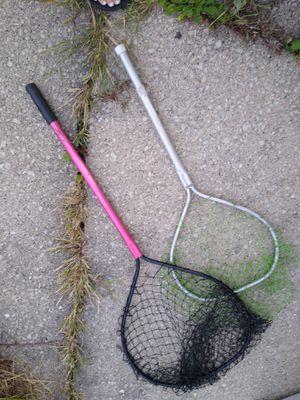 2 fishing nets for Sale in Oak Lawn, IL